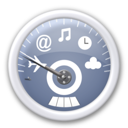 256x256px size png icon of dashboard   blue
