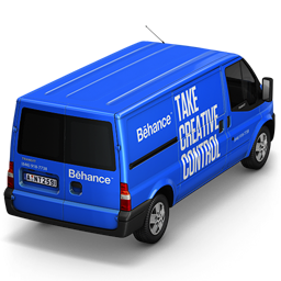 256x256px size png icon of Behance Van Back