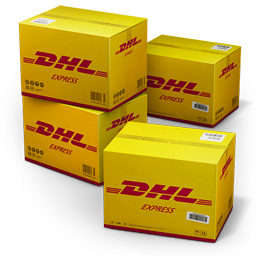256x256px size png icon of DHL Shipping Box