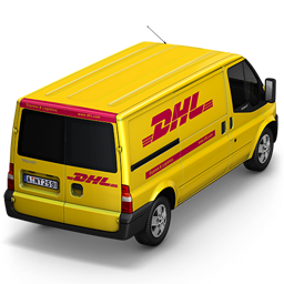 256x256px size png icon of DHL Van Back