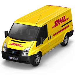 256x256px size png icon of DHL Van Front