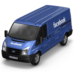 256x256px size png icon of Facebook Van Front