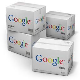 256x256px size png icon of Google Shipping Box