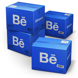 256x256px size png icon of Behance Shipping Box