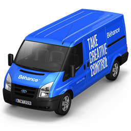 256x256px size png icon of Behance Van Front
