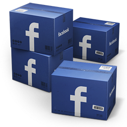 256x256px size png icon of Facebook Shipping Box