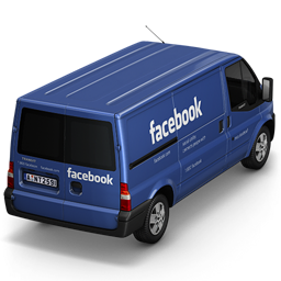 256x256px size png icon of Facebook Van Back