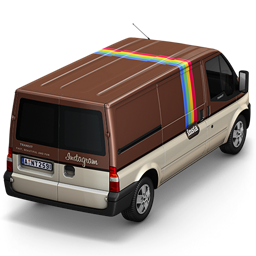 256x256px size png icon of Instagram Van Back