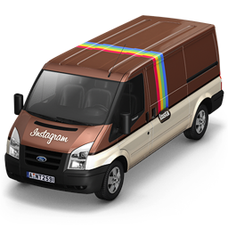 256x256px size png icon of Instagram Van Front