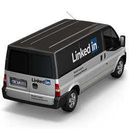 256x256px size png icon of Linkedin Van Back