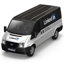 256x256px size png icon of Linkedin Van Front