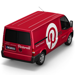 256x256px size png icon of Pinterest Van Back