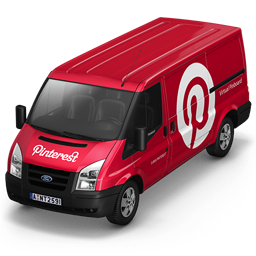 256x256px size png icon of Pinterest Van Front