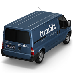 256x256px size png icon of Tumblr Van Back