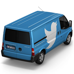 256x256px size png icon of Twitter Van Back