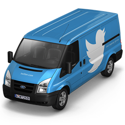 256x256px size png icon of Twitter Van Front