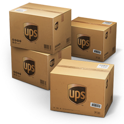 256x256px size png icon of UPS Shipping Box