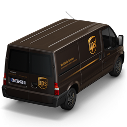 256x256px size png icon of UPS Van Back