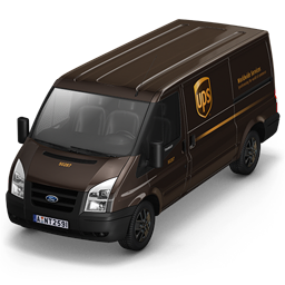 256x256px size png icon of UPS Van Front