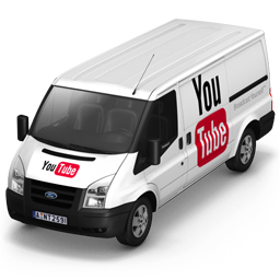 256x256px size png icon of YouTube Van Front