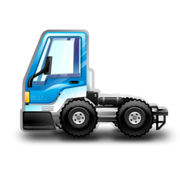 256x256px size png icon of City Truck blue