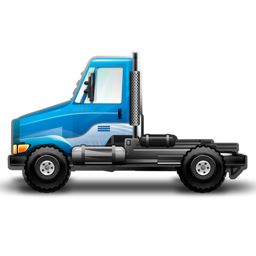 256x256px size png icon of Dura Truck blue