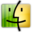 32x32px size png icon of Finder gray yellow