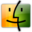 32x32px size png icon of Finder orange green