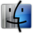 48x48px size png icon of Finder gray blue