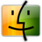 48x48px size png icon of Finder orange green