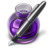 48x48px size png icon of Purple Fire w silver pen
