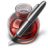 48x48px size png icon of Red Fire w silver pen