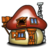 48x48px size png icon of Smurf House Exterior