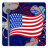 48x48px size png icon of Independence Day 3 Flag Fireworks