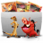 48x48px size png icon of Folder TV Lion
