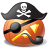 48x48px size png icon of pirate captain