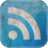 48x48px size png icon of Feed blue grunge