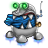 48x48px size png icon of robot trash full