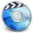 48x48px size png icon of iDVD BLUE Smoke