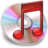 48x48px size png icon of iTunes Rood 3