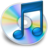 48x48px size png icon of iTunes blauw 2