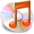 48x48px size png icon of iTunes oranje