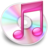 48x48px size png icon of iTunes roze