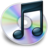 48x48px size png icon of iTunes zwart