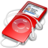 48x48px size png icon of ipod nano red