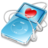 48x48px size png icon of ipod video blue favorite