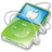 48x48px size png icon of ipod video green apple