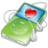 48x48px size png icon of ipod video green favorite