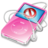 48x48px size png icon of ipod video pink no disconnect