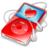 48x48px size png icon of ipod video red favorite